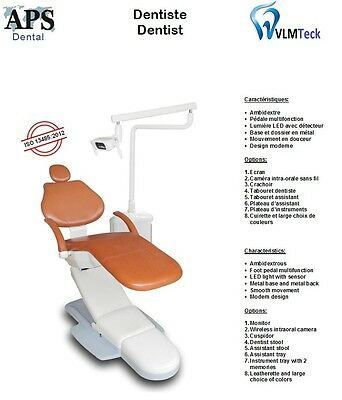 Dentist Chair w/LED Light 2014 Model VLMTeck Inc. Health Canada Approved Company