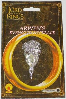 The Lord of the Rings Arwen's Evenstar Necklace NEW MINT ON CARD