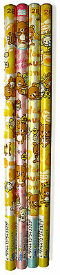 4er Set Bleistifte 2B Honig Bär Rilakkuma Honey pencil bear cute kawaii