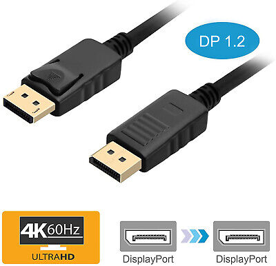 2m Displayport Display Port to DP Cable Male to Male Digital High Speed Full HD