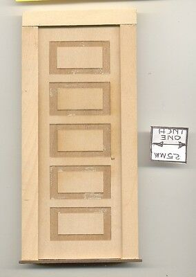 Door - Interior 5 Panel - 2311 wooden dollhouse miniature 1:12 scale Made in USA