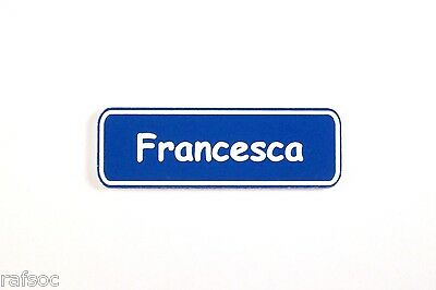 5/8X2 Employee Personalized Name Tag Badge Custom Engraved With Magnet