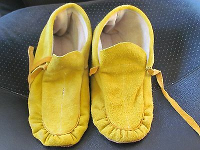 Native American Moccasins, 10.5 Inches Long With Ties, Unisex, Beautiful!
