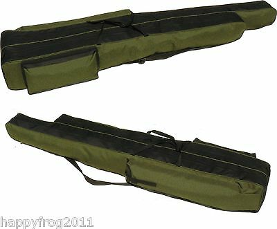 FISHING ROD HOLDALL BAG 2 SIZES 2 POCKETS 160/130cm for rod with reel DARK GREEN