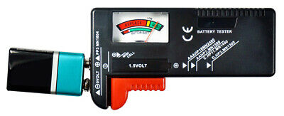 Battery Tester Work for: AAA, AA,C, D, 9V, & Button Cell Batteries