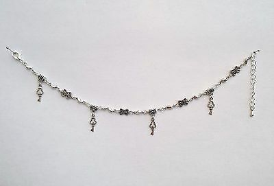 Ladies Silver Anklet Alices Key