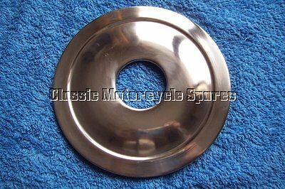 """BSA Stainless Steel 6"""" hub cover for Front and Rear C15 brakes, and Rear B40."""