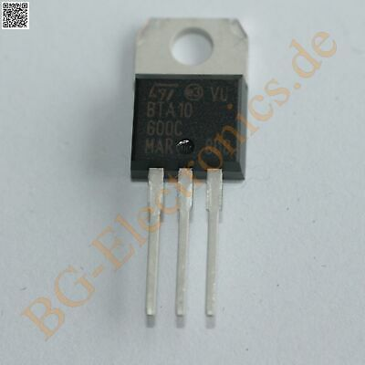 2 x BTA10-600C TRIAC 600V 10A  STM TO-220 2pcs