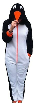 Womens 1Onesie1 Animal Penguin ,Ladies,Mens,All In One Suit, Pyjama Set,S,M,L,