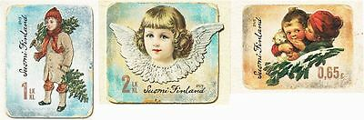 Christmas Vintage Design Glossy Picture Stamps Angel Childrens Finland MNH 2013