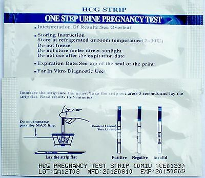 Set of X2 X3 And X100 Pregnancy Test Strips Ultra Early Test 10MIU Fast Delivery