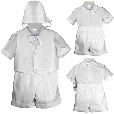 Baby Infant Boy Toddler Christening Baptism Formal Short Set Suit (New Born- 4T)