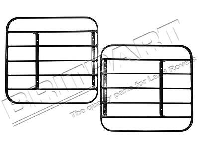 Land Rover Defender 90 / 110 Hinged (Rectangular) Lamp Guards Front Pair Rtc8969
