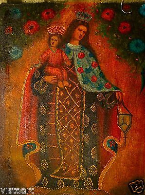 "High Quality Oil Painting On Cloth Canvas 12""x 16"" - Mother and Child Savior"