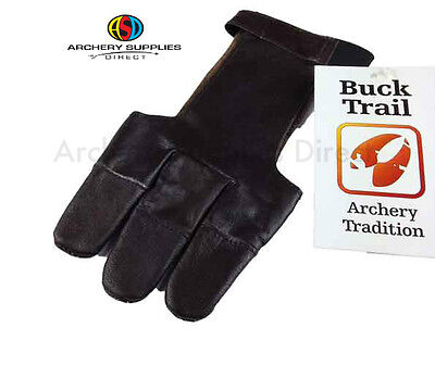 Archery Buck Brown Leather Glove with Finger Protection -Medium ,Large ,X-Large