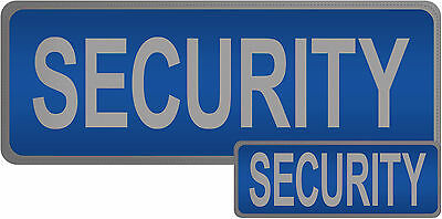 Security Reflective Patches With Hook and Loop Backing, Blue & Black available