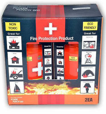Fire Extinguisher Suppressor Portable Double Pack