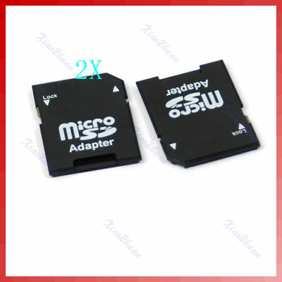 2x T-Flash TF Micro SD to SD Memory Adapter Card Reader