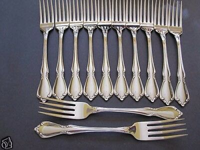 Usa Seller  12 Geniune  Chateau Dinner Forks  Oneida New 18/8 Free Ship Usa Only
