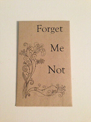10 x FORGET ME NOT Seed Funeral Favours - Personalised Memorial Rememberance UK