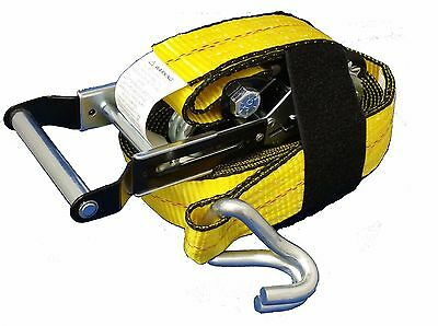*NEW* Ratchet Tie Down Straps 2 in. x 27 ft./ 10000 lbs with Heavy Duty DJ- Hook