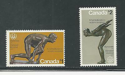 Canada # 656-657 Mnh Olympic Sculptures (4078)