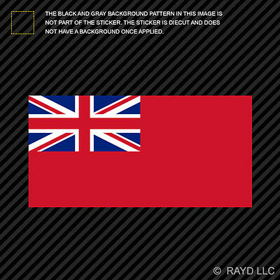 Royal Navy Red Ensign Flag Sticker Decal Self Adhesive Vinyl red duster english
