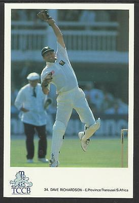 DAVE RICHARDSON -- SOUTH AFRICA. OFFICIAL TCCB  POSTCARD No. 34.