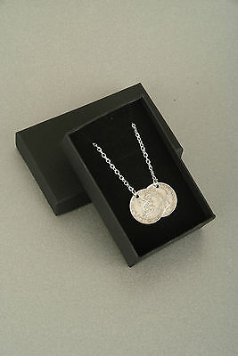 Lucky Sixpence Pendant Necklace - Holly Willoughby Style 1911 - 1919
