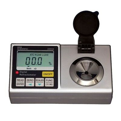 Lab Digital Refractometer - Brix 0-95 Percent - Sper Scientific - 300034