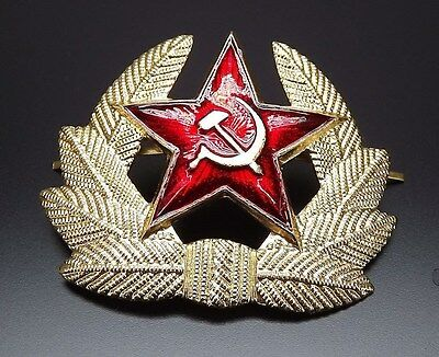 Soviet russian army military RED STAR hat beret badge SURPLUS NEW CONDITION
