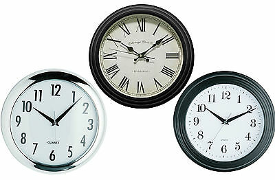 Wall Clock Black, Vintage Black and Halo Round Modern  Bathroom ,Bed/Office