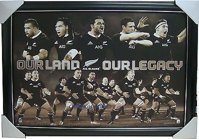 All Blacks Our Land Our Legacy Limited Edition Official Print Framed with COA