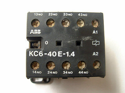 ABB KC6-40E-1.4. 4 Pole Mini Contactor Relay 24V DC. Din Rail or Base Mounting