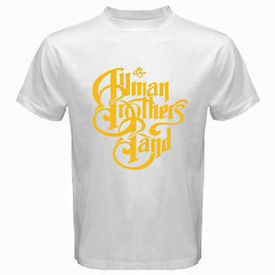New THE ALLMAN BROTHERS Band Rock Blues Icon Logo Men's White T-Shirt Size S-3XL