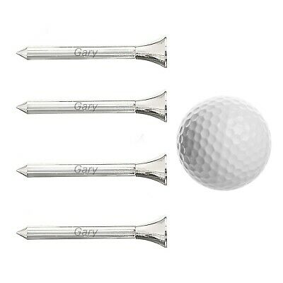Personalised 4 x Golf Tees and No1 Golfer Ball with Black Pouch - Engraved Free