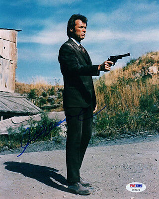 CLINT EASTWOOD SIGNED AUTOGRAPHED 8x10 PHOTO DIRTY HARRY PSA/DNA