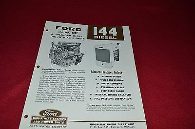 Ford Tractor 144 CU In Displacement  Diesel Power Unit Dealer's Brochure LCPA