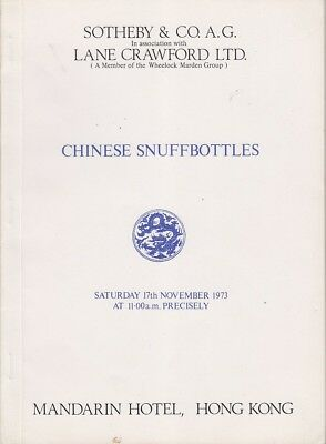 Various SOTHEBY CATALOGUE OF CHINESE SNUFFBOTTLES 1st Ed. SC Book