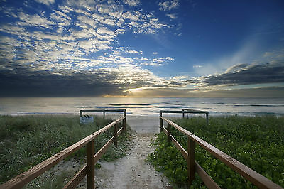 Australian gold coast qld sunrise beach  ocean art seascape print  photograph
