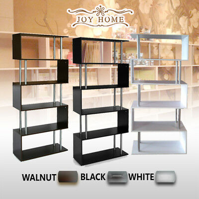Modern 5 Level Tier Bookcase Storage Display Furniture Bookshelf Shelf Stand