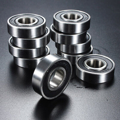 10PCS Miniature Rubber Sealed Metal Shielded Metric Radial Ball Bearing Models