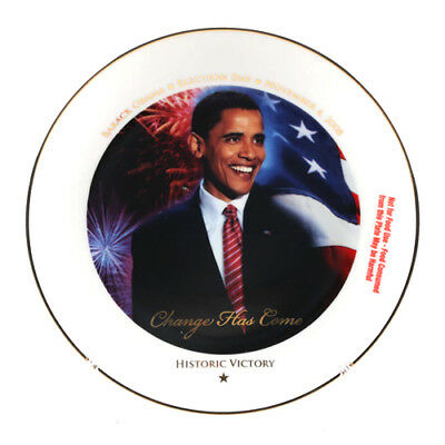 *NEW* Barack Obama Historic Victory Collectable Plate/Stand & Certificate