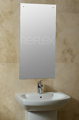 60 x 60cm frameless square bathroom mirror with drilled for Mirror 45 x 60