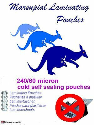 self seal ID or credit card laminating pouches cold and instant  pick a quantity