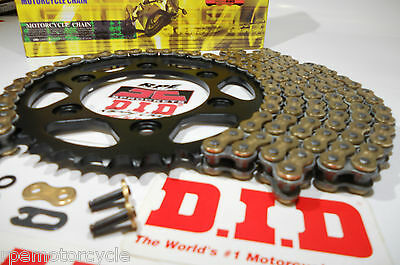 BMW F800 GS TRIPLE BLACK  DID 525 GOLD X-Ring , JT STEEL CHAIN AND SPROCKETS KIT