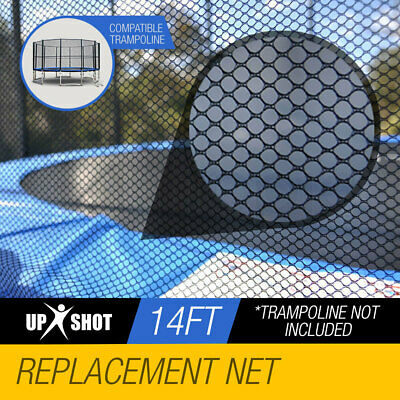 UP-SHOT Replacement Outdoor Trampoline Round Safety Net Enclosure 14ft 12 Pole
