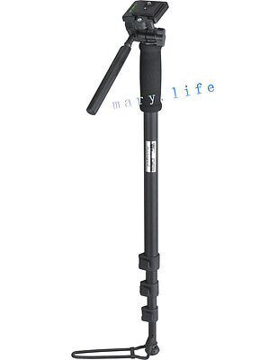 "70""WF-1005 PHOTO CAMERA CAMCORDER tripod MONOPOD WITH FOOT STAND AND PAN HEAD"