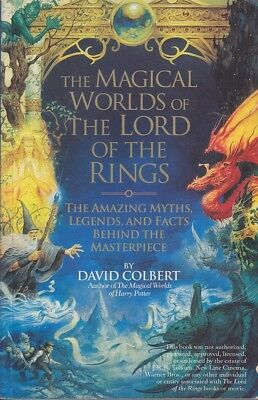 David Colbert THE MAGICAL WORLDS OF THE LORD OF THE RINGS 2002 1st Ed. SC Book