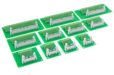 IDC Male Header Connector Breakout Board, Terminal Block.